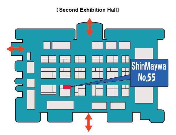 Booth layout map