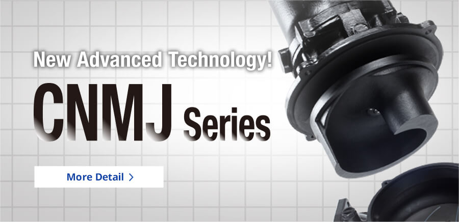 New Advanced Technology! CNMJ Series Solid passage up to 3 inches and self-cleaning with chopper
